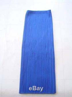 ISSEY MIYAKE PLEATS PLEASE Blue Purple Long Maxi Pleated Skirt Size 2 From Japan