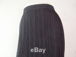 ISSEY MIYAKE PLEATS PLEASE Gray Long Pleated Maxi Pencil Skirt Size 3 Japan