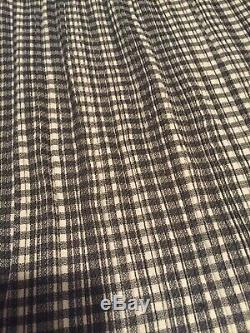 ISSEY MIYAKE White Label Pleated Long Maxi Checkered Skirt Sz L Large 3 Pleats