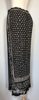 ISSEY MIYAKE Wrap Maxi Long Skirt Black Beige Size L