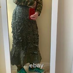 Issey Miyake Grey Fishtail Skirt, Size Japan 3. UK Medium