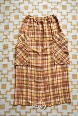 Issey Miyake Hai Sporting Gear vintage check waffle knit long skirt, medium