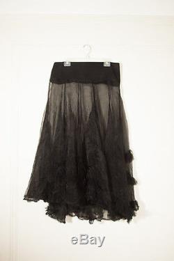 Ivan Grundahl Copenhagen Long Maxi Sheer Black Skirt Size 44 US Size Large/L