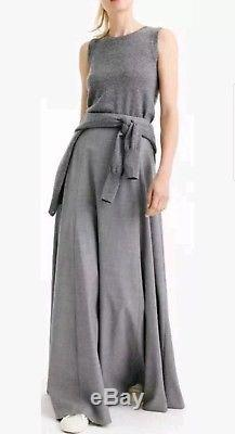 J Crew Collection $258 Wool Flannel Maxi Skirt Heather Grey size 06 NWT