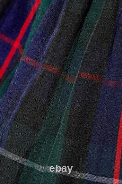 J. Crew Collection Ruffle Tartan Wrap Maxi Skirt in Yarn Dyed Plaid Sz 6 H4005