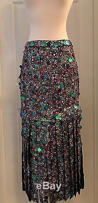 J. Crew Collection Sequin Maxi Skirt Size 6 Multi E4687 $1450