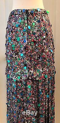 J. Crew Collection Sequin Maxi Skirt Size 6 Multi E4687 $1450