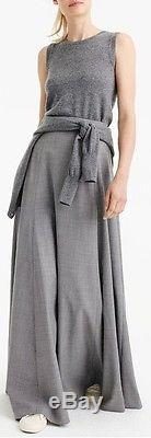 J Crew Collection Wool Flannel Maxi Skirt Heather Grey size 00