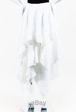 J. W. Anderson NWOT White Linen Asymmetric Handkerchief Maxi Skirt SZ 4