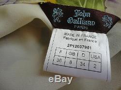 JOHN GALLIANO LOW WAIST SKIRT XS FR. 36 NWOT RETAIL $2,650 WithO TAX