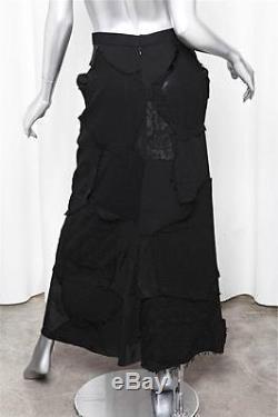 JUNYA WATANABE COMME DES GARCONS Womens Black Patchwork Long A-Line Maxi Skirt S