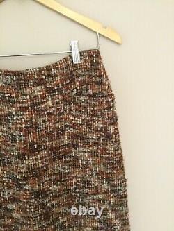 JUNYA WATANABE COMME DES GARCONS wool boucle tweed maxi skirt
