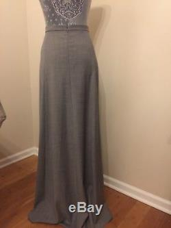 Jcrew Collection Maxi Skirt In Wool Flannel Size 12 Heather Grey F9483 Sold-out