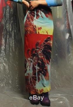 Jean Paul Gaultier JPG Soleil Photoreal Pop Art Neon Island Mesh Maxi