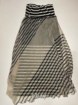 Jean Paul Gaultier Maxi Skirt Stripes Silk
