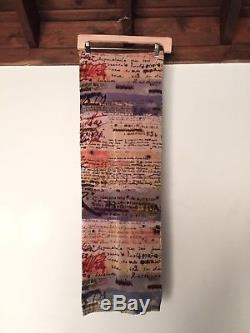 Jean Paul Gaultier Mesh All Over Cursive Text Print Skirt 90s Vintage Boho