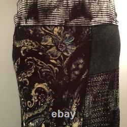 Jean Paul Gaultier Mesh Fuzzi Patchwork Skirt