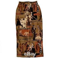 Jean Paul Gaultier SS96 French Print Long Skirt sz40