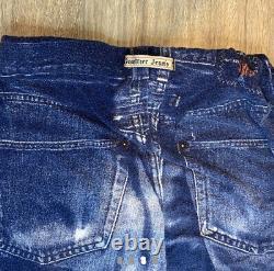 Jean Paul Gaultier Vintage Denim Trompe Loeil Jersey Skirt