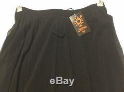 Jean Paul Gaultier Women Long Skirt Black Mesh NWT SzM Authentic