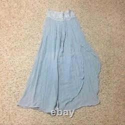 Jen's Pirate Booty Free People Blue Gauze Maxi Skirt XS Rare