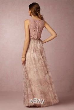 Jenny Yoo Bhldn Maxi Long Skirt Louise Tull Watercolor Purple Pink Sz 2 Xs