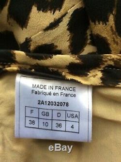 John Galliano Animal Leopard Print Silk Maxi Skirt size F38