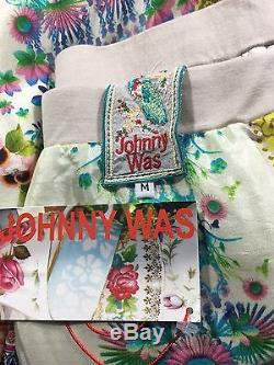 Johnny Was Bohemian Print Maxi Skirt Silk Twill Pull On Flowy Size M NWT $218