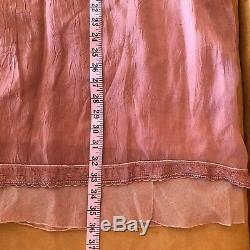 Johnny Was Collection Maxi Long Skirt Taupe Brown Boho Peasant Tiered Mesh Hem M