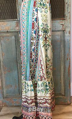 Johnny Was NWT Silk Maxi Skirt L A Line Lined