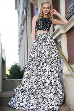 Jovani Prom Size 2 Long Dress Gown 2 Piece Crop Top And Skirt Formal NEW 25452