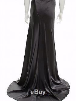 Juan Carlos Obando grey silk maxi skirt. Size 4. MSRP $1850