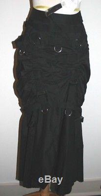 Junya Watanabe Comme des Garcons Black Skirt Ruched / Buckles Size S NWT