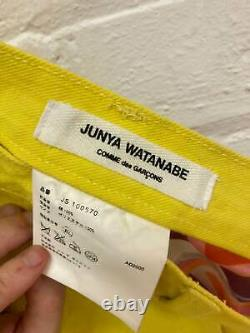 Junya Watanabe Comme des Garcons SS2001 yellow denim skirt with satin back