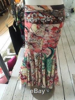 Just Cavalli Floral Printed Full Maxi Skirt (Sz. 38)