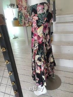 Just Cavalli Long Printed Full Maxi Skirt (Sz. 40)