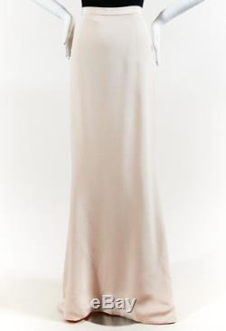Katie Ermilio Beige Silk Cruise High Low Maxi Skirt SZ 0