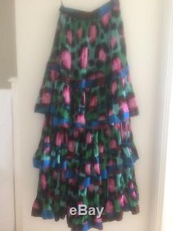 Kenzo H&M Tiered Maxi Skirt UK 6 EU 32