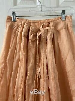 Krista larson Peach Long Skirt One Size