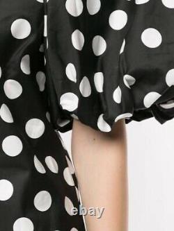 LEE MATHEWS MATTHEWS Cherry Spot Black Cotton Silk Long Maxi Top Skirt Dress