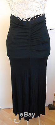 Lagenlook Rick Owens Lilies long maxi jersey Skirt in Black UK 8 rare