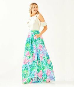 Lilly Pulitzer BOHEMIAN QUEEN Maxi BOBBI SKIRT Long Maxi Princess Pockets 4 NWT