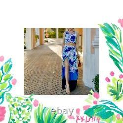 Lilly Pulitzer NWT Jemma Crop Top & Maxi Wrap Skirt Set Sweet Pea $258