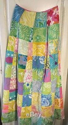 Lilly Pulitzer The Lilly Maxi Long Skirt Size M-L HOLY GRAIL RARE Vintage