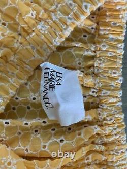 Lisa Marie Fernandez Tangerine Daisy Eyelet Skirt and Top, Size 1