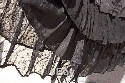 Long, Plus, Black Ruffle Skirt, Lace, Full Length, 1x 2x 3x 4x 4x, Maxi