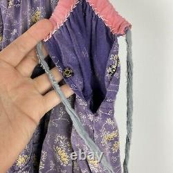 MAGNOLIA PEARL Cotton Nepali Peasant Skirt in Summit Purple Full Circle Maxi
