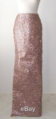 MAISON MARTIN MARGIELA Multi Color Glitter Long Maxi Skirt 40 4