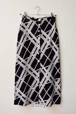 MANNING CARTELL Long Black White Monochrome Geo-Tastic Maxi Skirt AU6 $399
