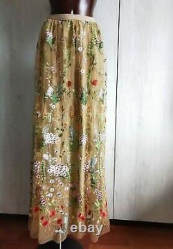 MARINA RINALDI Embroidery Skirt PLUS size 25MR-16W USA 20GB 46DE 54IT 50FR